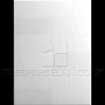 Laura Ashley Highgate White Ceramic Tiles La50563