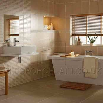 Laura Ashley Highgate White Ceramic Tiles
