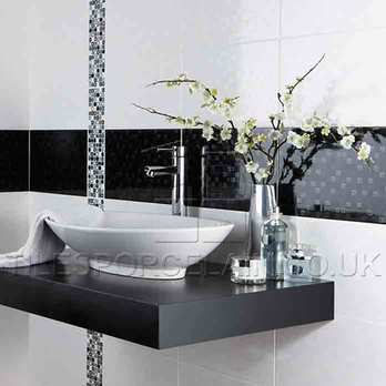 Laura Ashley Hinton Black Ceramic Wall Tiles La51072