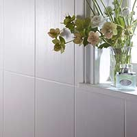 Laura Ashley Cottonwood Linear White Ceramic Wall