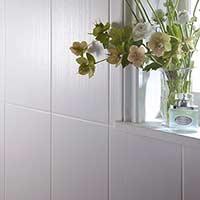 Laura Ashley Cottonwood Linear White Ceramic Wall