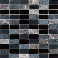 Pewter And Marble Mosaic Tiles