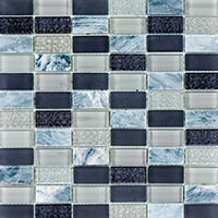 Graphite And Marble Mosaic Tiles