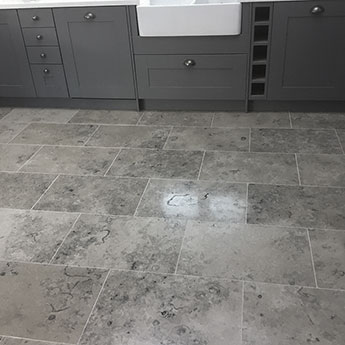 Jura Grey Honed Fossil Limestone Floor Tiles
