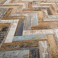 Loft Beige Mix Wood Effect Porcelain Tile