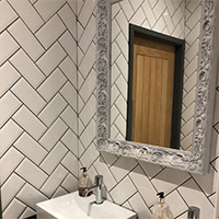 White Metro Brick Effect Ceramic Tile