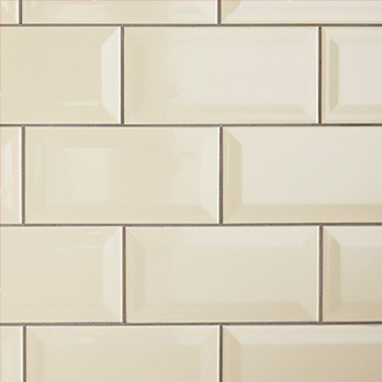 Cream Metro Brick Effect Ceramic Tile