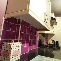 Purple Metro Brick Effect Tile