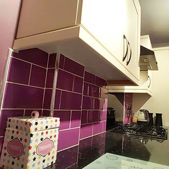 Metro Brick Effect Purple Ceramic Tiles 200mm X 100mm Tilesporcelain