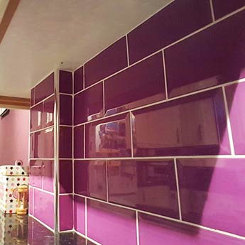 Metro Brick Effect Purple Ceramic Tiles 200mm X 100mm