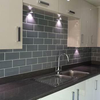 Grey Metro Brick Effect Ceramic Tiles
