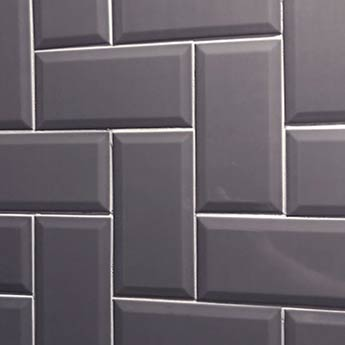 Grey Metro Brick Tiles Bathroom Walls Huge Savings