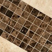 Dark Emperador Mosaic Marble Tile
