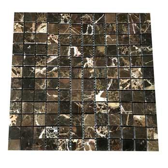 Dark Emperador Mosaic Marble Tiles