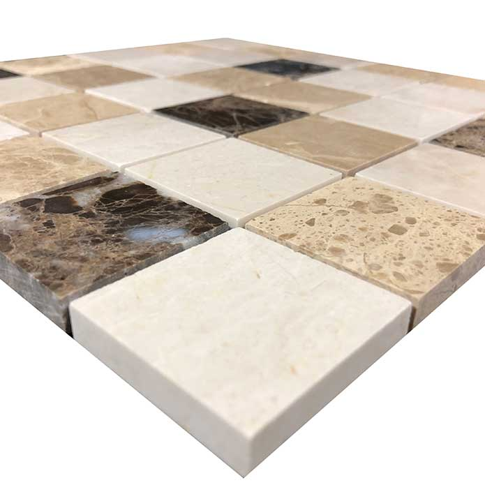 Emperador Mixed Mosaics Polished Tiles