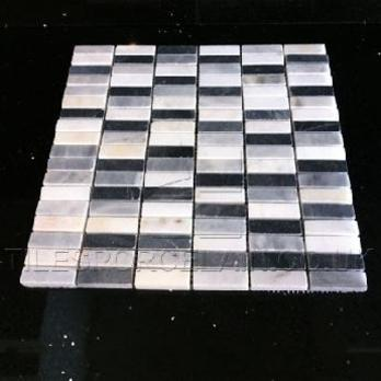 Domino Black And White Mix Marble Tiles