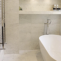 White Veined Marble Tile