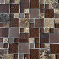 Chocolate and Marble Modular Glass Mosaic