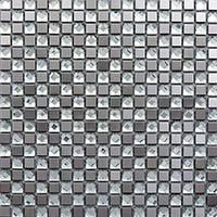 Silver Diamond Glass Mosaic
