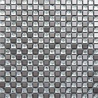Silver Diamond Glass Mosaic