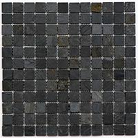 Black Slate Mosaic 2.3x2.3mm