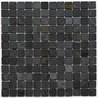 Black Slate Mosaic 2.3x2.3mm
