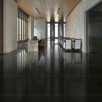 Super Black Polished Porcelain Tiles Commercial Grade
