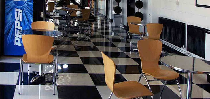 Black and White Porcelain Floor