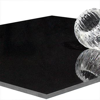 Polished Black Porcelain Tile
