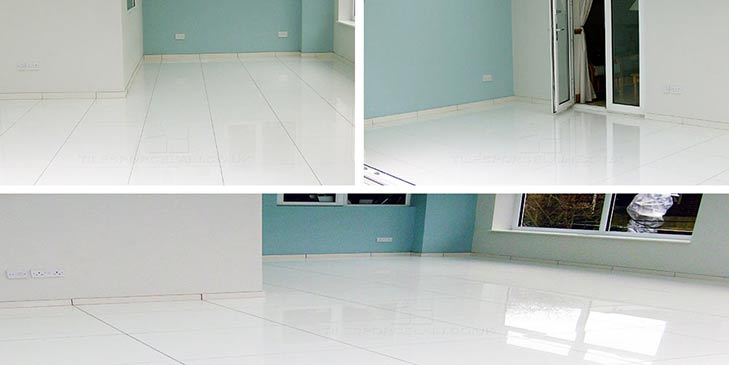 Customers white floor