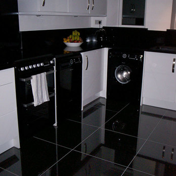 Supreme Black Polished Porcelain Tiles
