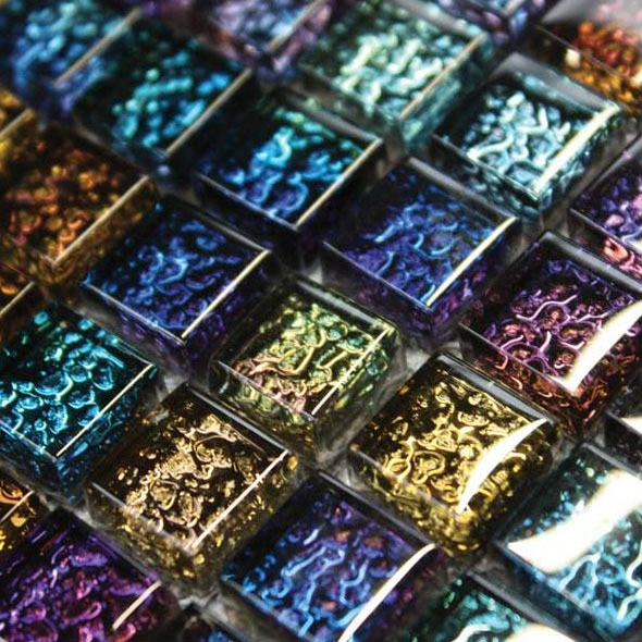 Chromatic Harlequin Mosaic Tiles