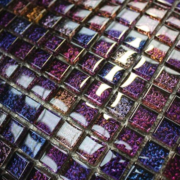 Chromatic Purple Haze Mosaic Tiles