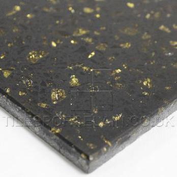 Cosmos Black Gold Quartz Sparkly Tiles Tilesporcelain