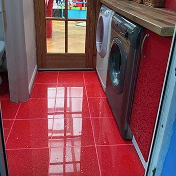Ruby Red Sparkly Quartz Tiles Stardust Tiles