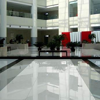 Snow White Engineered Glass Tiles White Floor Tiles