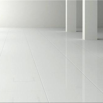 Snow White Engineered Glass Tiles White Floor Tiles
