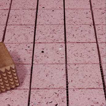 Pink Sparkly Mosaic Quartz Tiles Order A Sample See
