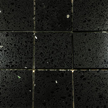 Black Quartz Mosaic Tiles