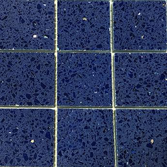 Sapphire Blue Quartz Mosaics Tiles