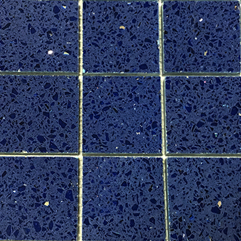 Sapphire Blue Quartz Mosaic