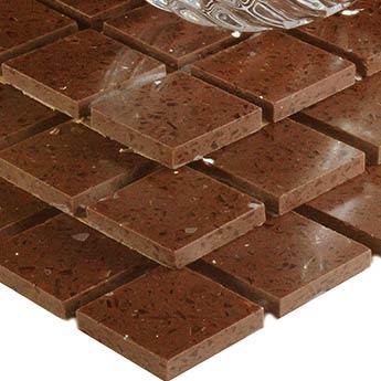 Chocolate Brown Sparkly Quartz Mosaic Tiles, 70% OFF High ...