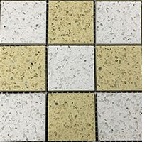 Diamond White Arabian Cream Quartz Mosaic Tiles