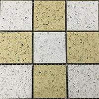 Diamond White Arabian Cream Quartz Mosaic