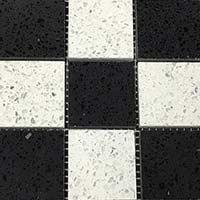 Diamond White Midnight Black Quartz Mosaic