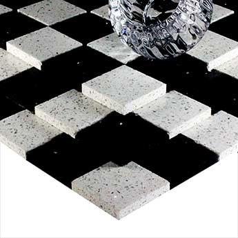 Black And White Quartz Mosaic Tiles Tilesporcelain
