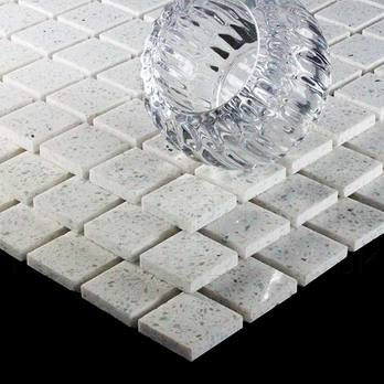 Diamond White Quartz Mosaics