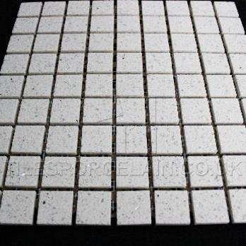 Diamond White Quartz Mosaic Tiles