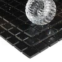 Midnight Black Quartz Mosaic Tiles