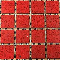 Ruby Red Mosaic Tiles